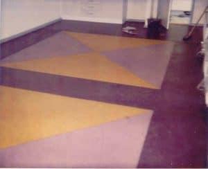 Linoleumsgulv monteret med mønster Hobro