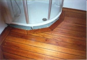 Skibsgulv fra Trip Trap monteret på badeværelse