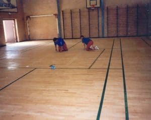 Afstribning i gymnastiksal